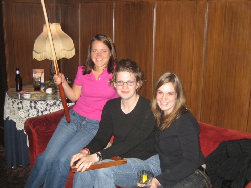 Me, Jen and Christen enjoying a game of pool in DC